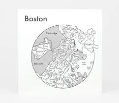 Map Of Boston Harbor by Archie U0027s Press Circle Map Of Boston At Buyolympia Com