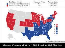 2016 Presidential Election Map 1884 Presidential Election Result Grover Cleveland Democratic