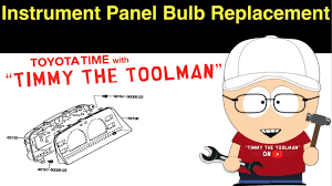 instrument panel light bulb replacement youtube