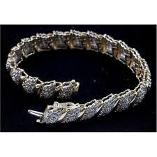 bracelet diamond style images 10kt yellow gold cluster style 330 diamond bracelet jpg