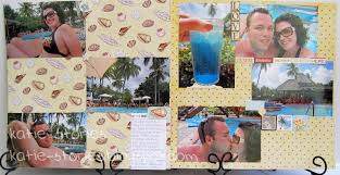 Vacation Photo Album Katie Stories Scrapbook Crafting Blog St Lucia Vacation