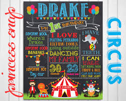 first birthday circus circus first birthday chalkboard poster sign carnival 1st