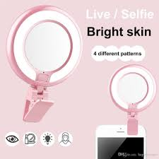 4 led lights mirror circle 2018 camera photography selfie light ring led fill up with mirror