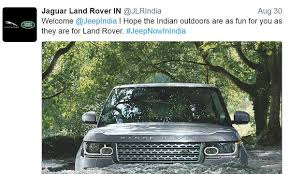 jeep land rover jaguar land rover extends the jeep wave via twitter