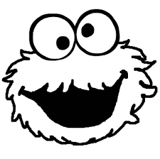 cookie monster silly face coloring pages coloring sky