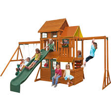 big backyard wooden swing sets home outdoor decoration