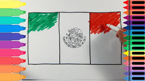 Mexican Flag Eagle How To Draw Mexico Flag Drawing The Mexican Flag Art Colors