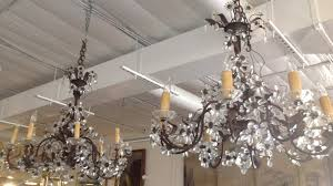 French Chandelier Antique Pair French Iron Crystal Chandeliers Antiques Of River Oaks
