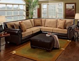 Leather Studded Sectional Home Pinterest Brown Sectional