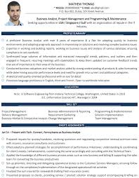 Sample Resume Of Business Analyst by Business Analyst Cv Format U2013 Business Analyst Resume Sample And