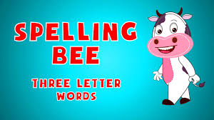 spelling bee sight words for kids 3 letter words learn
