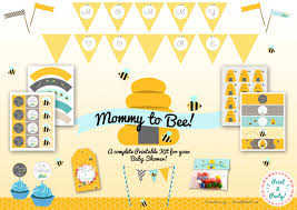 mom to bee baby shower printable party kit new baby party