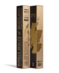 Scotch Whisky Map Whisky Poster 33 Books Co