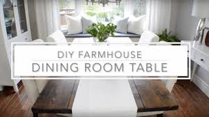 Dining Room Table Plans by Diy Farmhouse Dining Table Plans The Home Depot Youtube