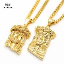 jesus hip hop necklace images Stainless steel jesus piece face charm micro mini pendant golden jpg