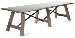 Calistoga Industrial Rustic Powder Coat  Seat Metal Dining Table - Metal kitchen table