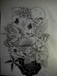skull cards design