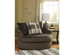 Comfy Chairs For Living Room by Living Room Grey Microfiber Round Deep Comfy Chair With Cushion