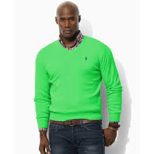 Big And Tall For Mens Clothes Ralph Lauren Big And Tall Pima Cotton V Neck Sweater In Green For