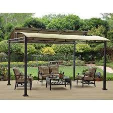 8 X 10 Pergola by Better Homes And Gardens Sawyer Cove 12 U0027 X 10 U0027 Barrel Roof Gazebo