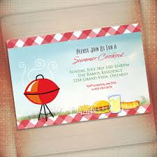 photo summer cookout invitation bbq image