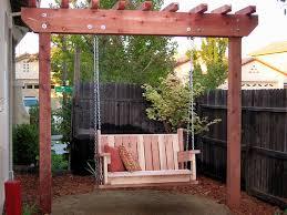 Swing Pergola Simple Ideas Of Pergola Swing Plans New Home Design
