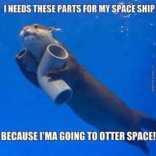 Meme Space - otter space by recyclebin meme center