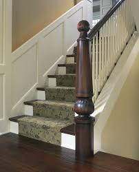Stair Base Molding by Newel Post Staircase Craftsman With Millmade Stair Dark Floors