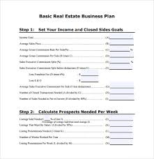 business plan template for real estate agents business plan