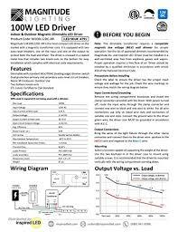 12v magnitude magnetic dimmable led driver transformer hardwired