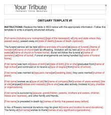 Samples Of Memorial Programs 25 Obituary Templates And Samples Template Lab
