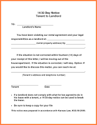 Notice To Terminate Tenancy Sample by 6 30 Day Notice Letter To Tenant From Landlord Sales Intro Letter