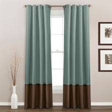 Chocolate Brown And Blue Curtains Buy Chocolate Blue Curtains From Bed Bath U0026 Beyond