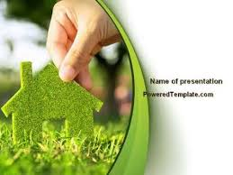 green house building powerpoint template by poweredtemplate com