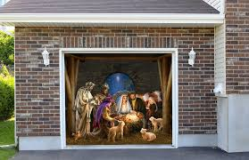 Christmas Outdoor Decorations Nativity Scene by Outdoor Decoration Nativity Scene Garage Door Christmas