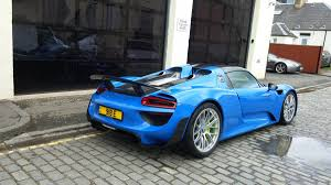 Porsche 918 Blue - 918 arrival rennlist porsche discussion forums