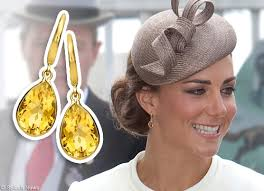 citrine earrings mcdonough citrine pear drop earrings as worn by kate middleton