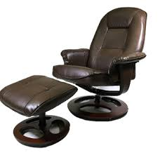 oneida java leather bonded swivel chair w ottoman