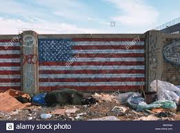How To Paint American Flag American Flag Painted On A Wall By An Illegal Garbage Dump Site In