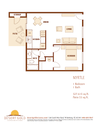 1 Bedroom Condo Floor Plans by Desert Gold Condominiums U2013 Floor Plans