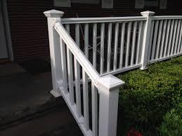 white vinyl porch railing other fort scott trading post