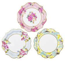 floral paper plates paper plates garden party tea party