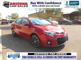 toyota corolla sport 2014 for sale certified pre owned 2014 toyota corolla s plus 4dr car in mesa