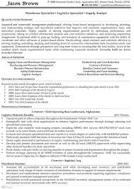 Example Warehouse Resume Warehouse Specialist Resume 22 Manager 10 Sample Job Resumes