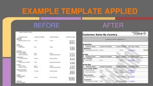 after report template reports review
