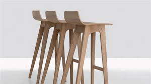 Modern Bar Furniture by Diy Wood Modern Bar Stools Youtube
