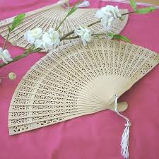 sandalwood fans folding sandalwood fan favor wedding bridal shower