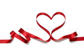 heart ribbon ribbon in heart shape stock image image of gift 36289525