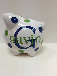 personalized piggy bank piggy bank childrens piggy bank