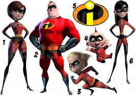 Halloween Costumes Incredibles Incredibles Iron Tshirt Heat Transfer Sticker Wall Decal